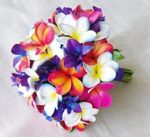 bouquet da sposa tema arcobaleno
