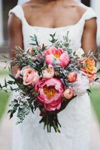 bouquet da sposa colorato e originale