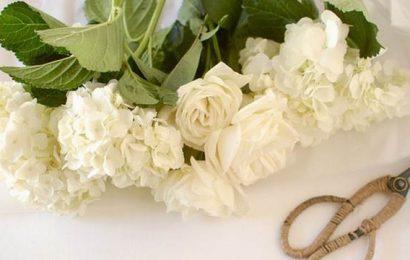 bouquet da sposa fai da te stoffa, tessuto, carta e fiori veri