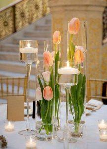 centrotavola matrimonio semplice ed elegante