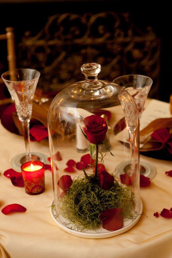 Matrimonio Tema La Bella E La Bestia : Centrotavola matrimonio fai da te la bella e la bestia