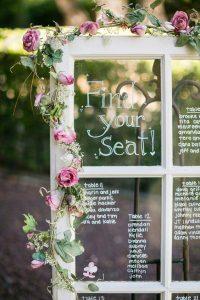tableau mariage con scritte su vetro