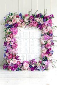 tableau mariage con fiori